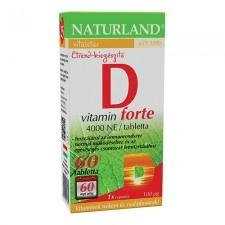 Naturland D-Vitamin forte tabletta    60 db vitamin