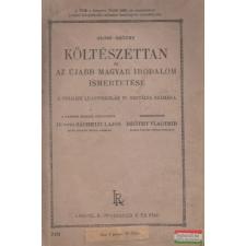 Glósz, Reőthy Vladimir - Költészettan és újabb magyar irodalom ismertetése irodalom