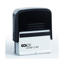 """COLOP Bélyegző, COLOP """"Printer C 40"""", kék cserepárnával bélyegző"""
