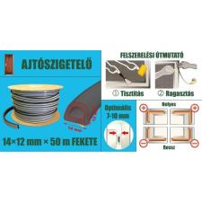 Ajtószigetelő, öntapadó gumiprofil, ipari, D-strip, fekete, 14 x 12 mm x 50 m barkácsolás, csiszolás, rögzítés