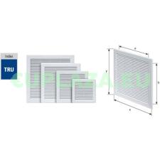 Szellőzőrács, TRU-2, szúnyoghálóval, csavarozható, ragasztható, műanyag, 150 x 150 mm barkácsolás, csiszolás, rögzítés