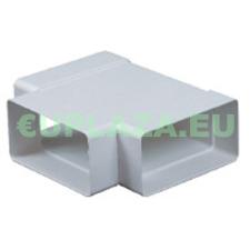 T-idom, KP75-26, négyszög keresztmetszetű légcsatornához, műanyag, 75 x 150 mm barkácsolás, csiszolás, rögzítés