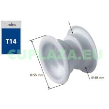 Szellőző, ajtóhoz, T14k112E, kerek, műanyag, cseresznye, átmérő 25 mm, 4 db/csomag barkácsolás, csiszolás, rögzítés