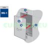 Csempemágnes, készlet, MU-1, 4db/csomag