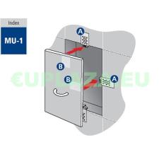 Csempemágnes, készlet, MU-1, 4db/csomag barkácsolás, csiszolás, rögzítés