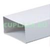 Légcsatorna, KP75-05, szögletes keresztmetszetű, műanyag, 75 x 150 x 500 mm