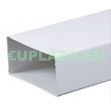 Légcsatorna, KP75-05, szögletes keresztmetszetű, műanyag, 75 x 150 x 500 mm barkácsolás, csiszolás, rögzítés