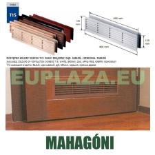 Szellőzőrács, ajtóhoz, T15k39, műanyag, mahagoni, 460 x 135 mm barkácsolás, csiszolás, rögzítés