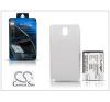 Cameron Sino Samsung N9000 Galaxy Note 3 hátlapos akkumulátor - Li-Ion 6400 mAh - fehér - X-LONGER mobiltelefon akkumulátor