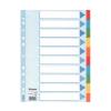 ESSELTE Regiszter, karton, A4, 10 részes, írható előlappa