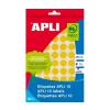 APLI Etikett, 10 mm kör, kézzel írható, színes, APLI,
