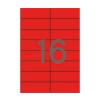 APLI Etikett, 105x37 mm, színes, APLI, piros, 1600 eti