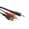Gembird audio kábel Jack 3.5mm apa / 2x RCA (CINCH) apa  20m