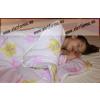 Rózsaszín kutyusos bébi/baba 2 részes ágyneműhuzat garnitúra, 70x90 + 30x40 cm - Naturtex