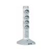 LEGRAND Elosztóoszlop, 4 csatlakozóaljzat, túlfeszültség védelemmel, 2 m kábelhosszúság, USB csatlakozók, LEGRAND, fehér