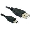 DELOCK USB 2.0 mini kábel (Type-A dugó / 5-pin Mini dugó) 0,7 m