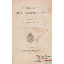 Horatius ódái és epodosai irodalom