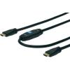 Digitus HDMI TV, Monitor csatlakozókábel 1x - 1x 30 m Fekete Digitus