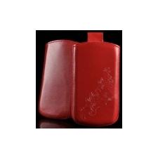 Telone Special Flower álló kihúzhatós bőrtok Samsung S5830 Galaxy Ace méretű piros* tok és táska