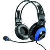 Hama uRage Vibra mikrofonos fejhallgató, Fekete/Kék (113721)
