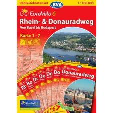 Rhein- & Donauradweg (Eurovelo 6) térképszett - BVA térkép