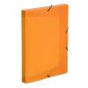 VIQUEL Gumis mappa, 30 mm, PP, A4, VIQUEL Propyglass, narancssárga (IV021348)