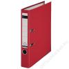 Leitz Iratrendező, 52 mm, A4, PP/karton, élvédő sínnel, LEITZ 180, piros (E10151225)
