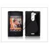 Haffner Nokia Asha 502 szilikon hátlap - S-Line - fekete