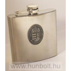 Ón címeres ezüst színű rozsdamentes flaska 240 ml