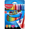 MAPED Zsírkréta, MAPED Color`Peps, 12 különböző szín (IMA862011)