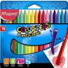 MAPED Zsírkréta, MAPED Color`Peps, 18 különböző szín (IMA862012)