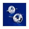. Fülbevaló,francia kapcsos MADE WITH SWAROVSKI ELEMENTS, natúr fehér, 12 mm
