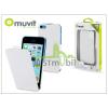 Muvit Apple iPhone 5C ultra vékony flipes tok képernyővédő fóliával - Muvit iFlip - white
