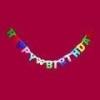 Happy Birthday ! felírat színes