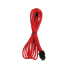 Bitfenix 6-Pin PCIe hosszabbító 45cm - sleeved piros/fekete