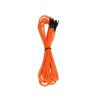 Bitfenix 3-Pin hosszabbító 60cm - sleeved narancs/fekete