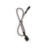 Bitfenix internal Audio hosszabbító 30cm - sleeved ezüst/fekete