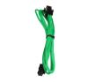 Bitfenix 4-Pin ATX12V hosszabbító 45cm - sleeved zöld/fekete modding