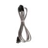 Bitfenix 4-Pin ATX12V hosszabbító 45cm - sleeved ezüst/fekete