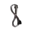 Bitfenix 6-Pin PCIe hosszabbító 45cm - sleeved ezüst/fekete