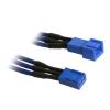 Bitfenix 3-Pin hosszabbító 90cm - sleeved kék/kék