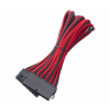 Bitfenix 24-pin ATX hosszabbító 30cm sleeved fekete/piros/fekete