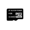Silicon Power Card MICRO SDHC Silicon Power 4GB Adapter nélkül CL4