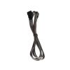 Bitfenix 3-Pin hosszabbító 90cm - sleeved ezüst/fekete