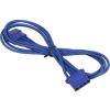 Bitfenix Molex hosszabbító 45cm - sleeved kék/kék