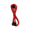 Bitfenix Molex hosszabbító 45cm - sleeved piros/fekete