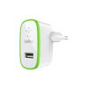 Belkin 2.1A USB Micro Car Charger for iPhone/iPad - White