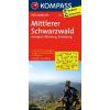 Mittlerer Schwarzwald - Kinzigtal - Offenburg - Strasbourg kerékpártérkép - Kompass FK 3108