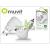 Muvit USB hálózati + szivagyújtó töltő adapter - Muvit USB Duo - 5V/1A - white
