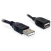 DELOCK Cable Extension USB 2.0 A-A male / female 15cm (82457)